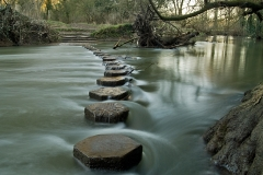 Stepping Stones at foot of Box Hill